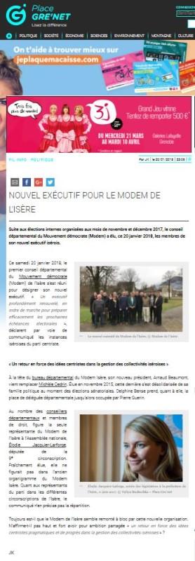 Nouvel exécutif pour le MoDem de l'Isère